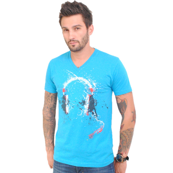 Splatter Headphone V-Neck