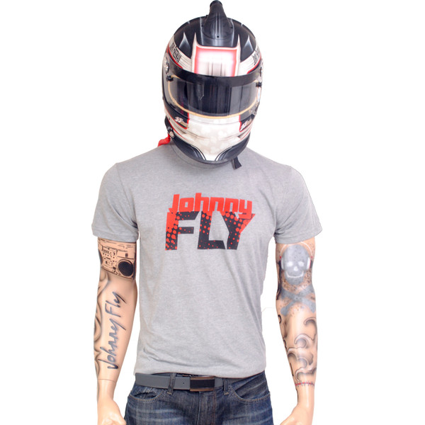 Retro Fly Tee -Grey/Red